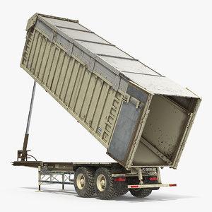 3D combine harvester trailer dirty