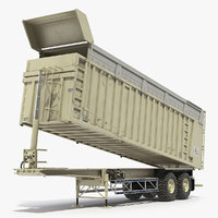 3D combine harvester trailer clean model