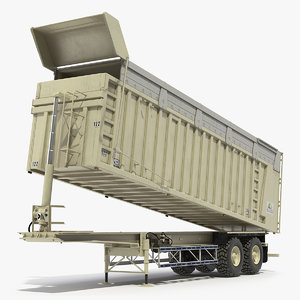 3D combine harvester trailer clean model