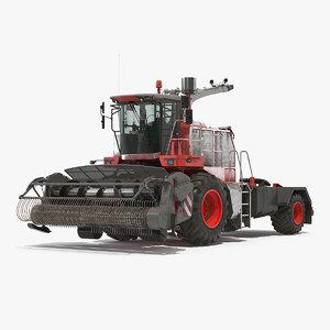 combine harvester generic dirty 3D model