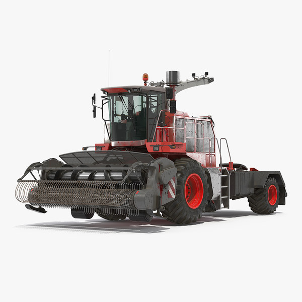 combine harvester generic dirty 3D model