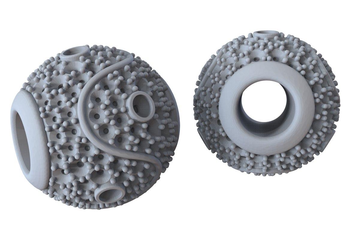 jewelry yin yang charm 3D model