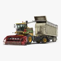 3D combine harvester cmc saturne model