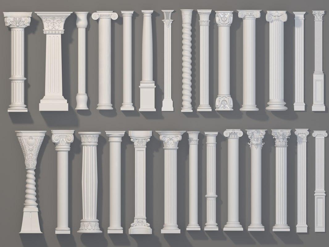 3D 27 piece columns