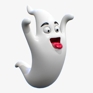 cartoon character ghost 3D model