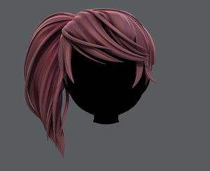 3D hair style girl cartoon