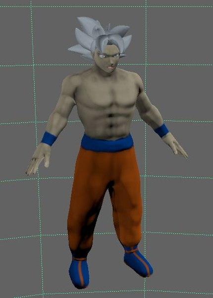 3D model character goku ui