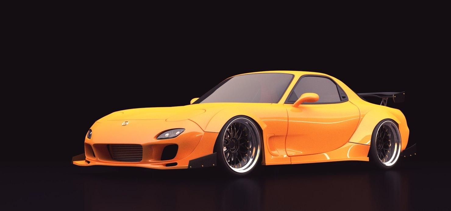 custom modified rx-7 3D model