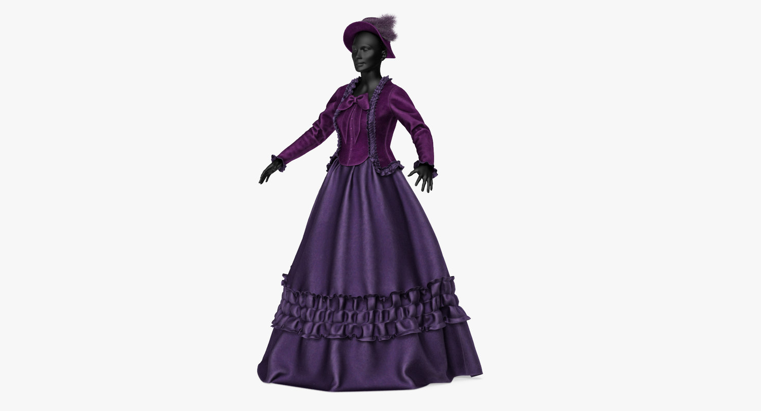 dress victorian age 3D