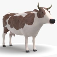 cow modeled 3D