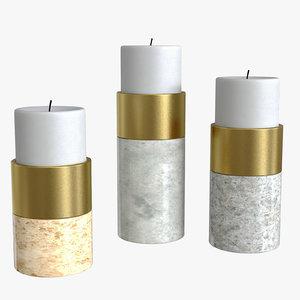 candle holder sierra set 3D model