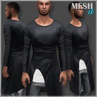 Asymmetric Male Shirt