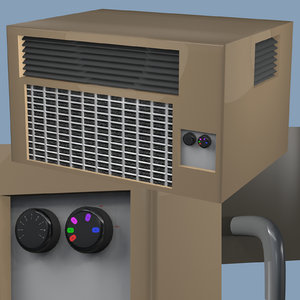 3D air conditioning unit object