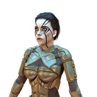 3D cyborg female hd