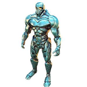 3D super hero titan model