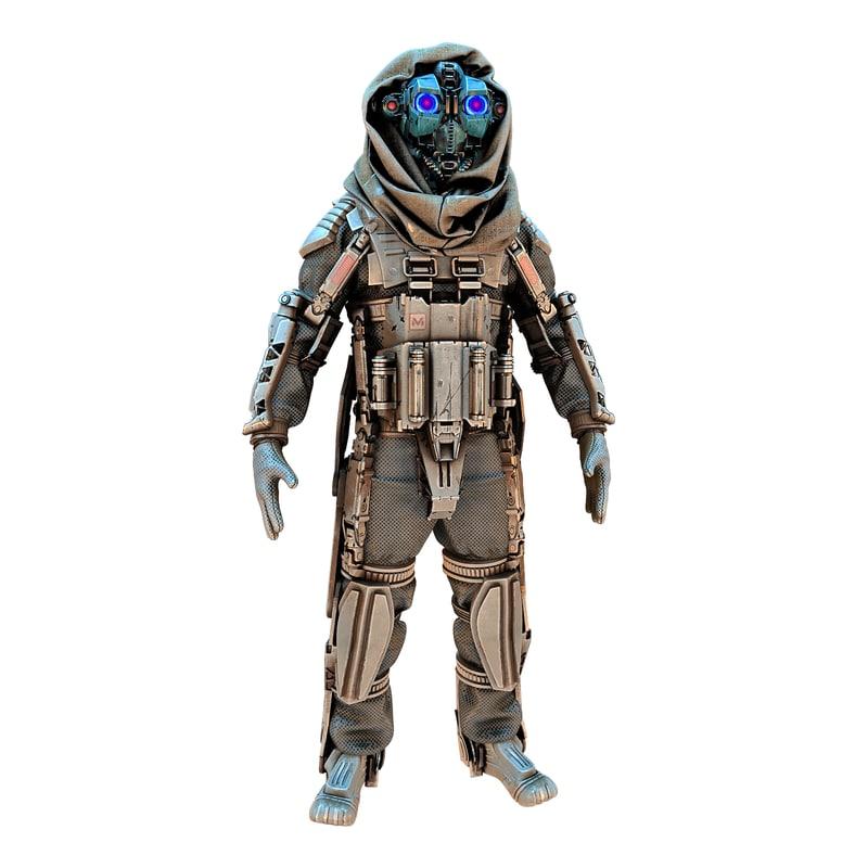 infiltrator robot hd 3D model