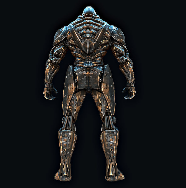 super hero titan 3D model