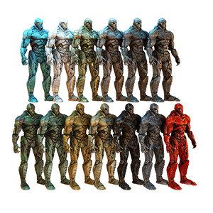 super hero titan pack 3D model