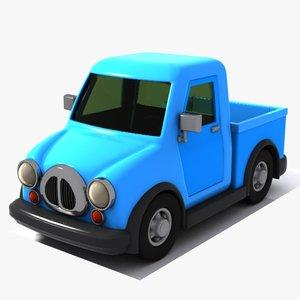 3D model pickup toon
