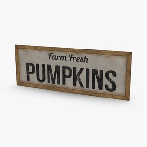 rustic-farm-sign-01---text 3D model