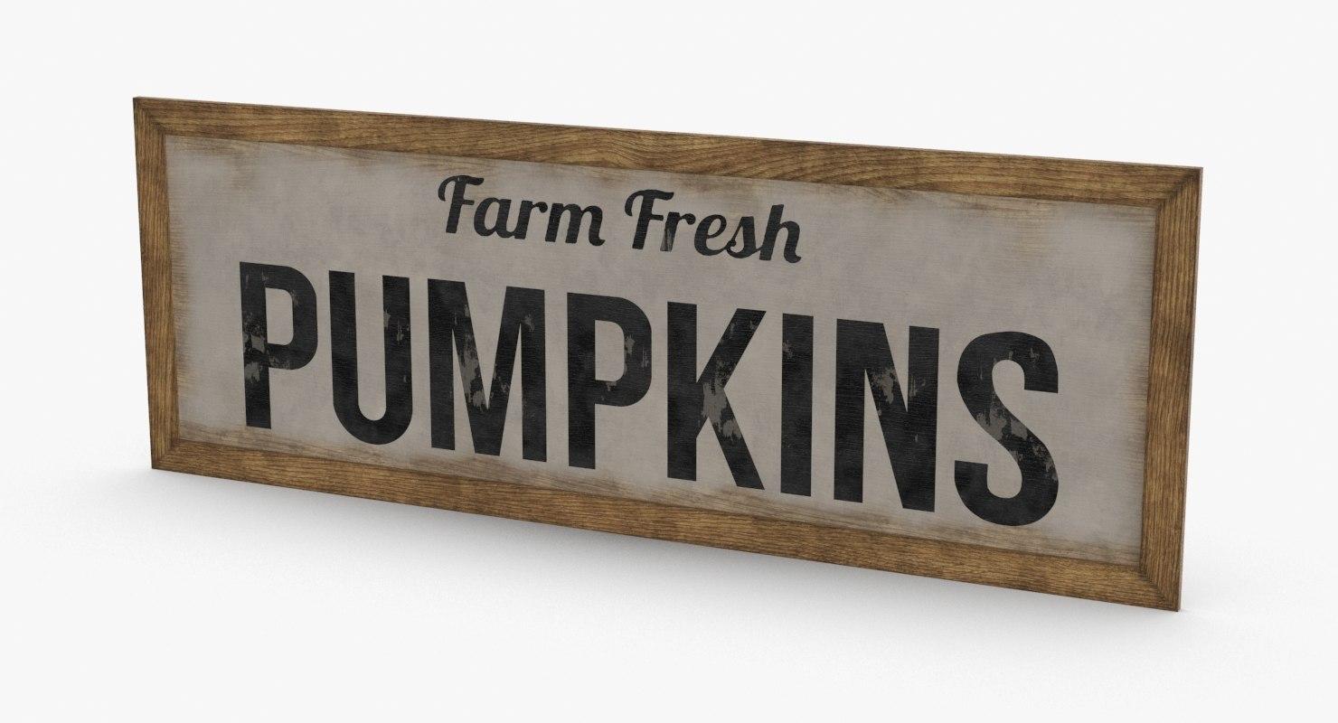 rustic-farm-sign-01---text 3D model
