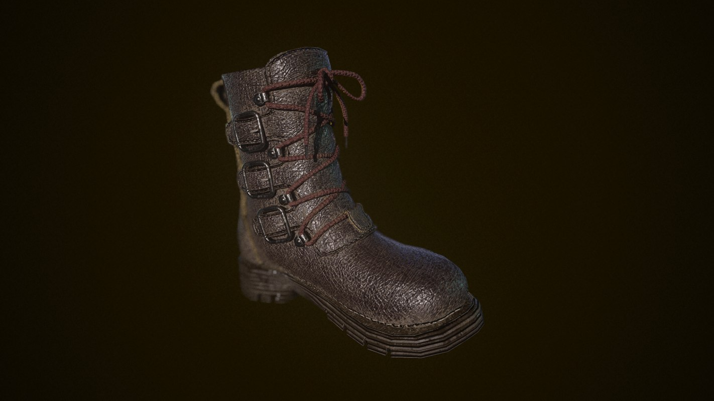3D boot leather model