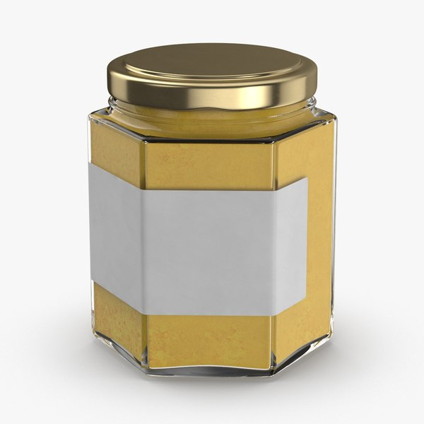 natural-pigment-in-glass-jars---yellow 3D