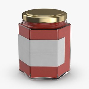 3D natural-pigment-in-glass-jars---red model