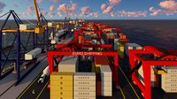 3D port cranes tractors model