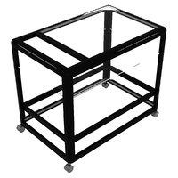 metalic glass service cart model