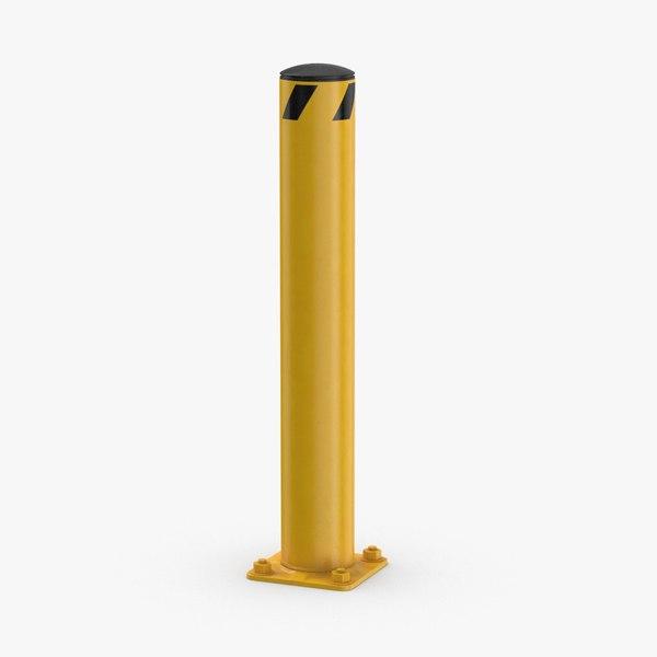 3D bollard-03 model