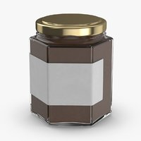 3D model natural-pigment-in-glass-jars---brown