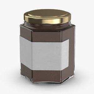 3D model natural-pigment-in-glass-jars---brown