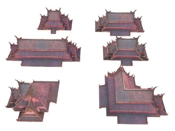 roof pagoda pack 6 model