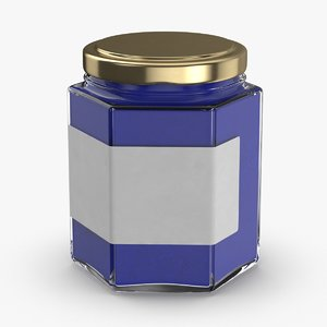 3D natural-pigment-in-glass-jars---blue model