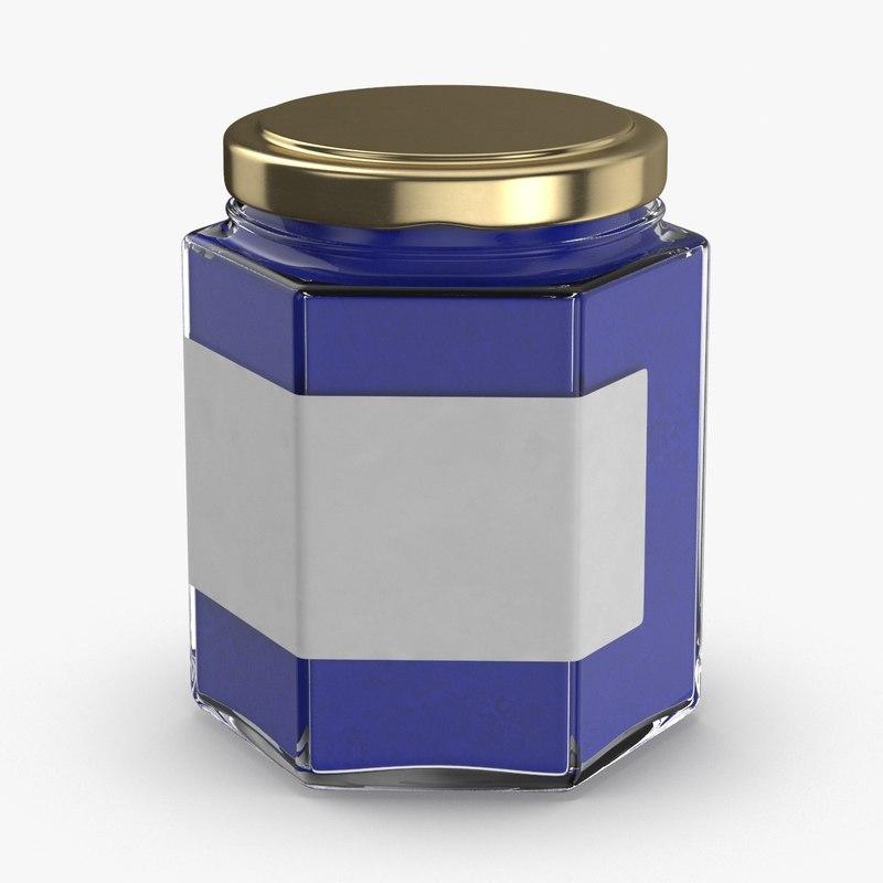 3D natural-pigment-in-glass-jars---blue model