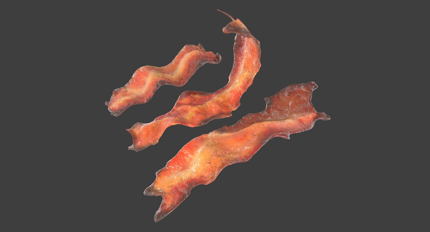 bacon cook - fried 3D