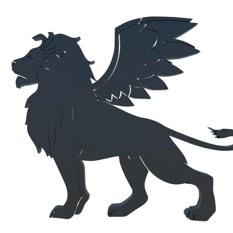 winged lion 3D