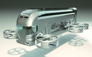 bus copter 3D model