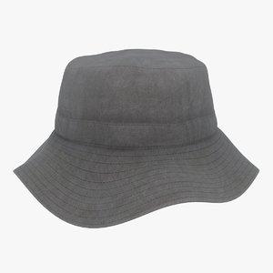 3D bucket hat color 2 model
