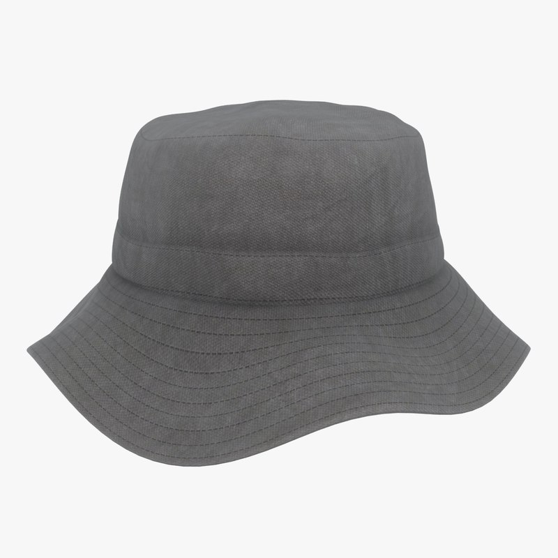 3D bucket hat color 2 model