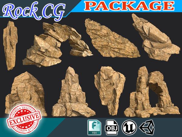 rock polys 3D model