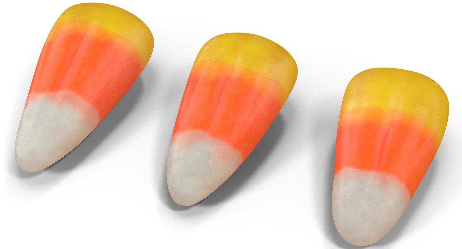 candy corn 3D
