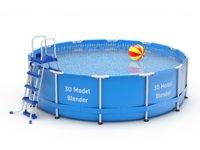 3D frame pool swimming