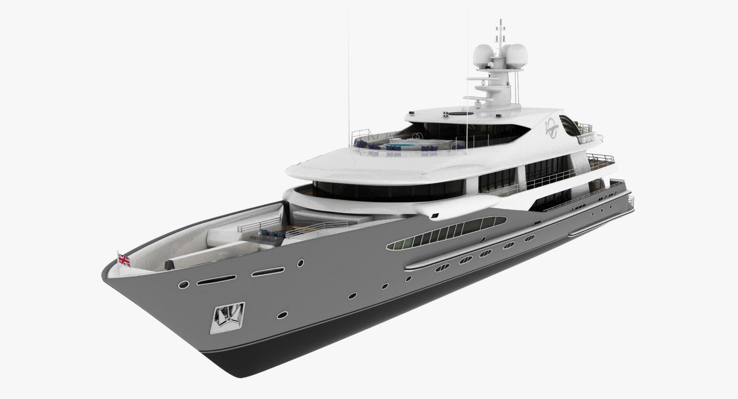 imagine yacht amels 3D model