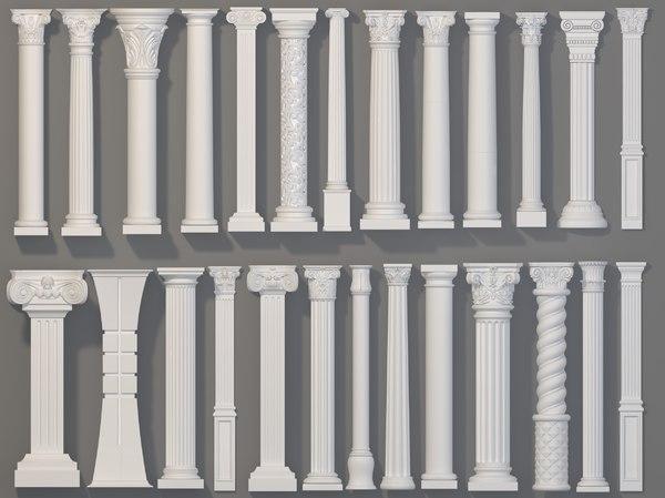 3D 26 piece columns