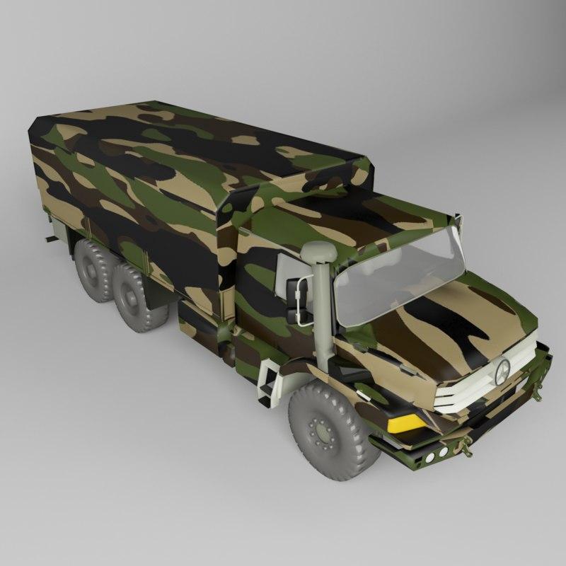 zetros truck 3D model