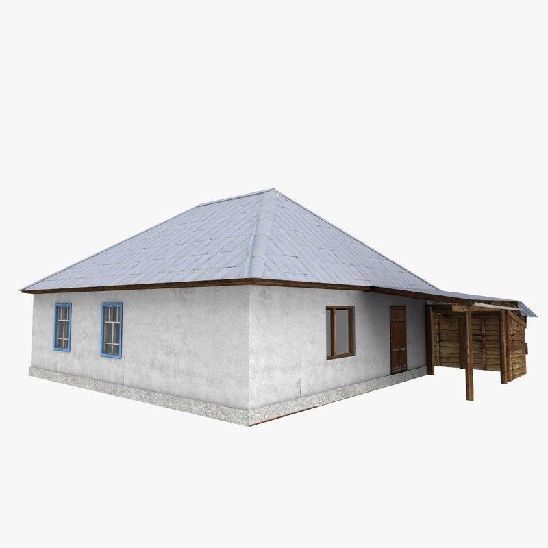 3D model russian home