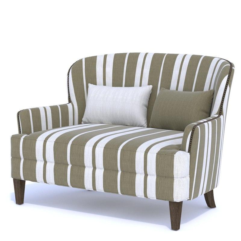 3D model coco masseto love seat
