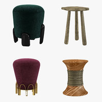stools brabbu set 3D model
